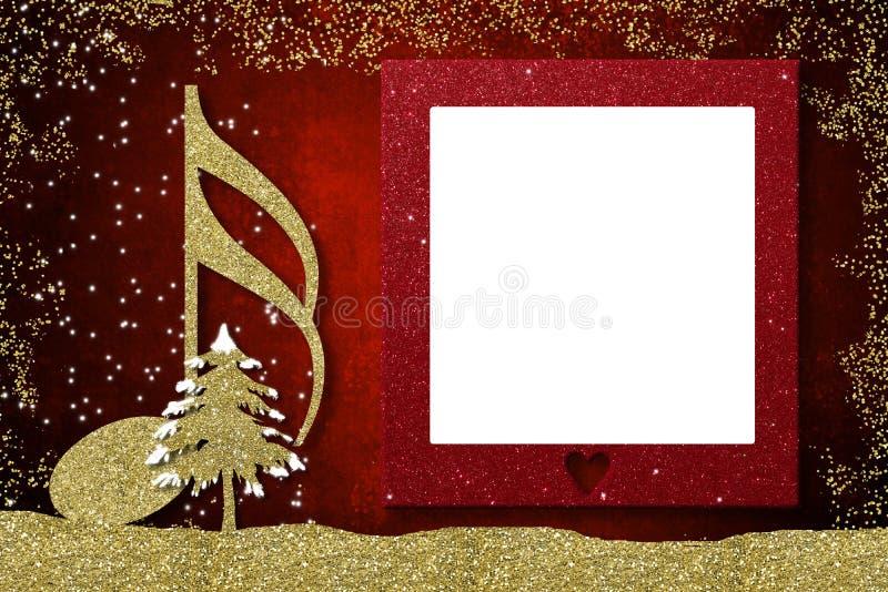 Cartão do musical do quadro do Natal imagens de stock