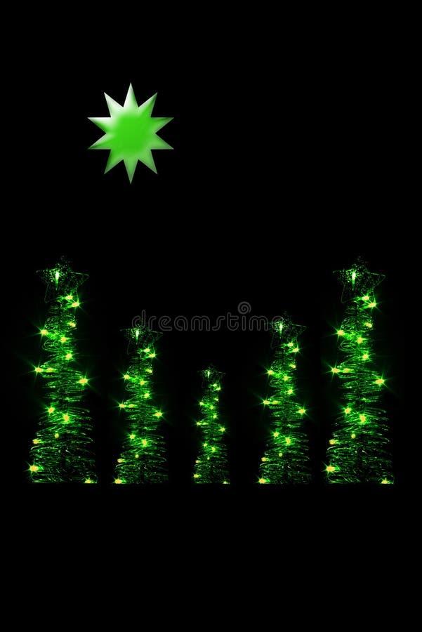 Cartão do Natal ilustração stock