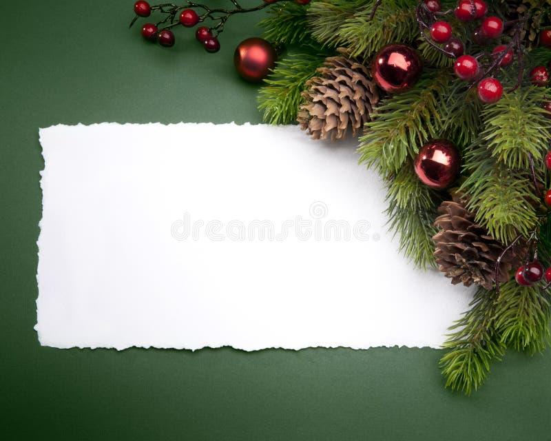 Cartão do Natal da arte foto de stock