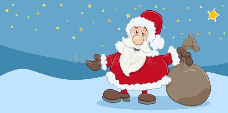 Download Cartão Do Natal De Papai Noel Ilustração do Vetor - Ilustração de cartoon, feliz: 80103057