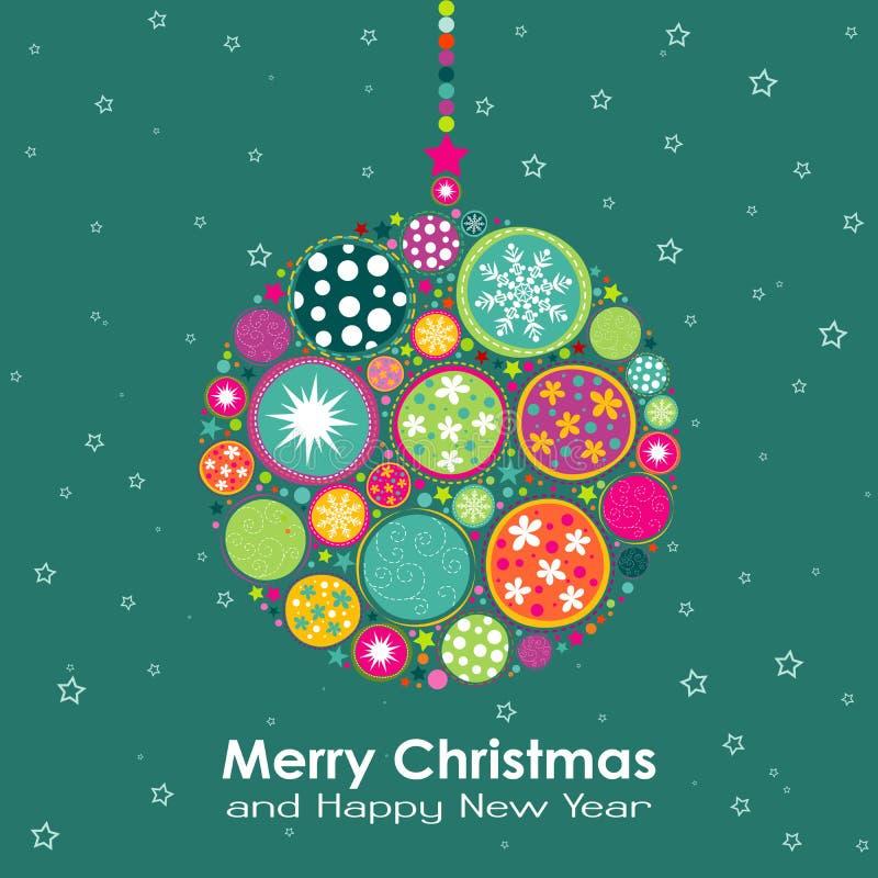 Cartão do Natal do molde, vetor ilustração royalty free