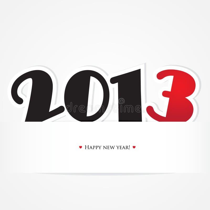 Cartão do Natal e do ano novo com preto e vermelho ilustração stock