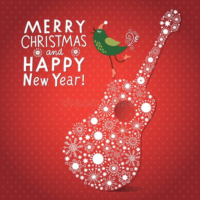 Cartão do Natal e do ano novo s ilustração stock