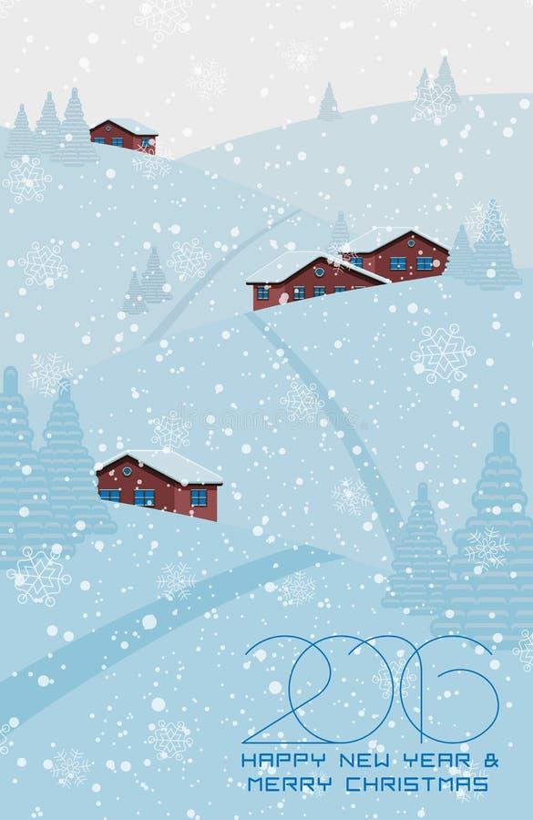 Cartão do Natal ou do ano novo ilustração do vetor