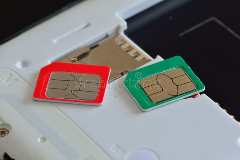 Cartão do operador móvel SIM foto de stock royalty free