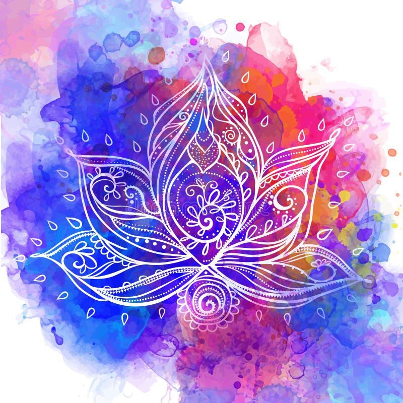 Cartão do ornamento ilustração royalty free