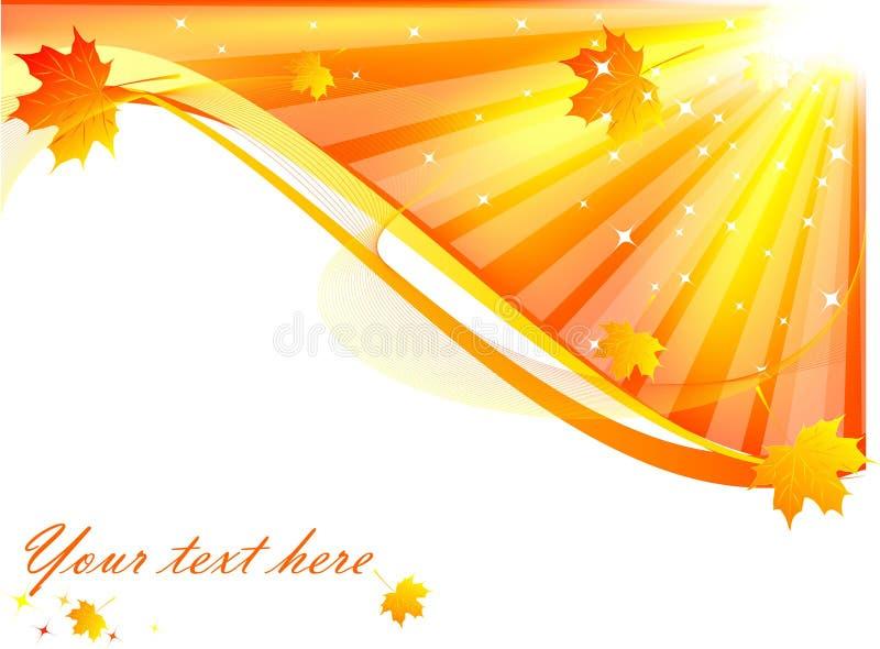 Cartão do outono ilustração stock