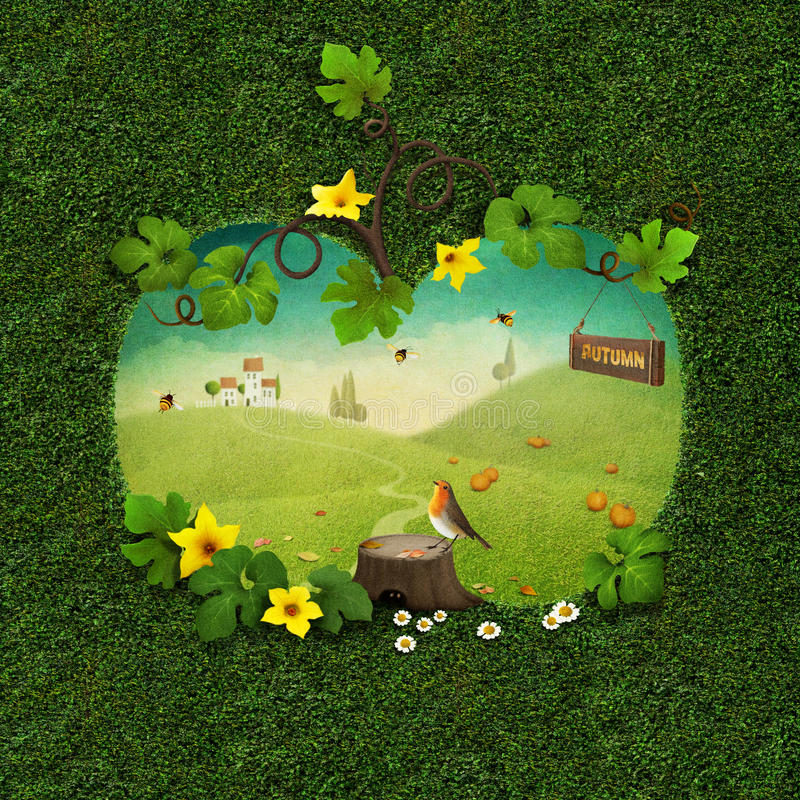 Cartão do outono ilustração royalty free