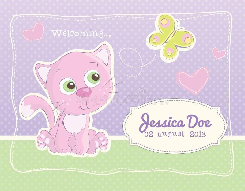 Cartão do padrão do anúncio do nascimento do bebê ilustração stock