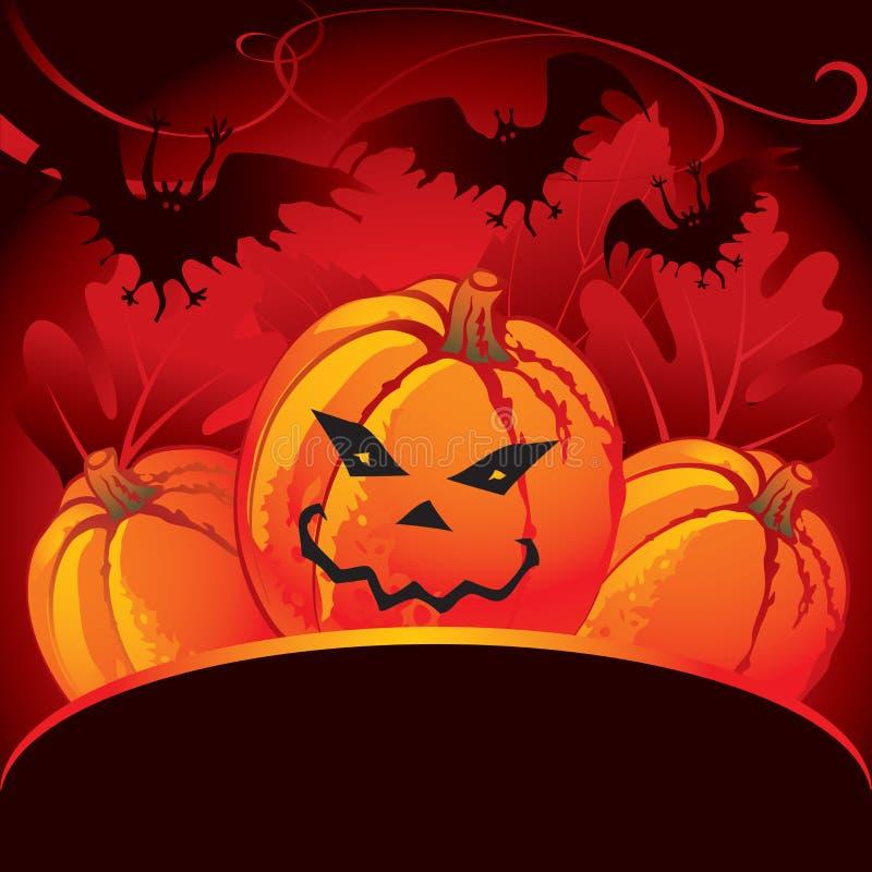 Cartão do partido de Halloween ilustração royalty free
