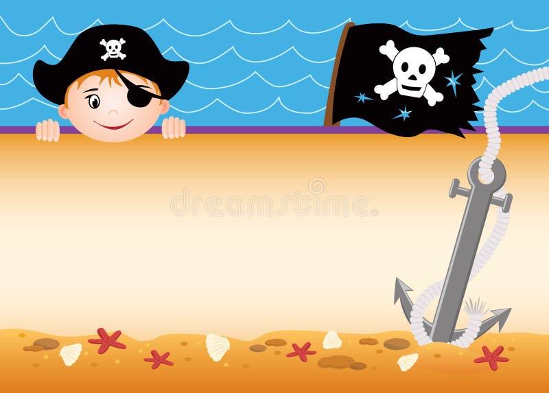 Cartão do pirata ilustração stock