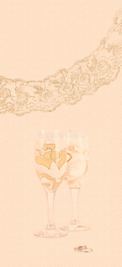 Cartão do presente de casamento imagens de stock royalty free