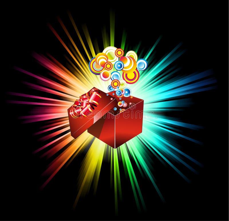 Cartão do presente do aniversário ou do Natal ilustração stock