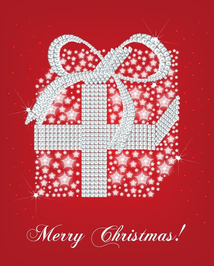 Cartão do presente do Natal ilustração do vetor