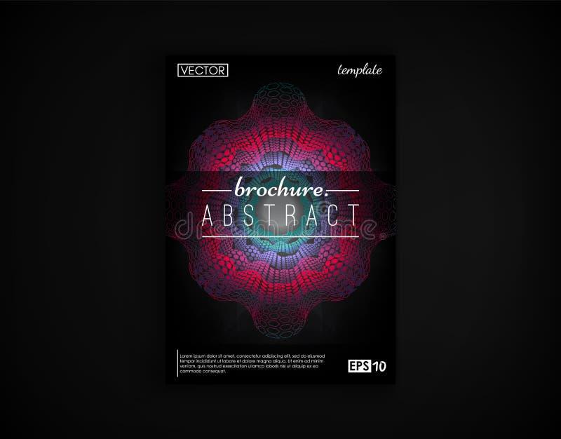 Cartão do projeto da tampa do folheto isolado 2d fundo futurista Cartaz, inseto, cartaz, cartão e o outro seu ilustração do vetor