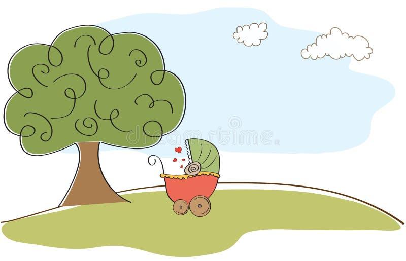 Cartão do shyower do bebê ilustração do vetor