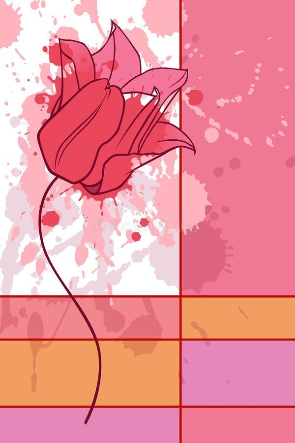 Cartão do Tulip ilustração royalty free