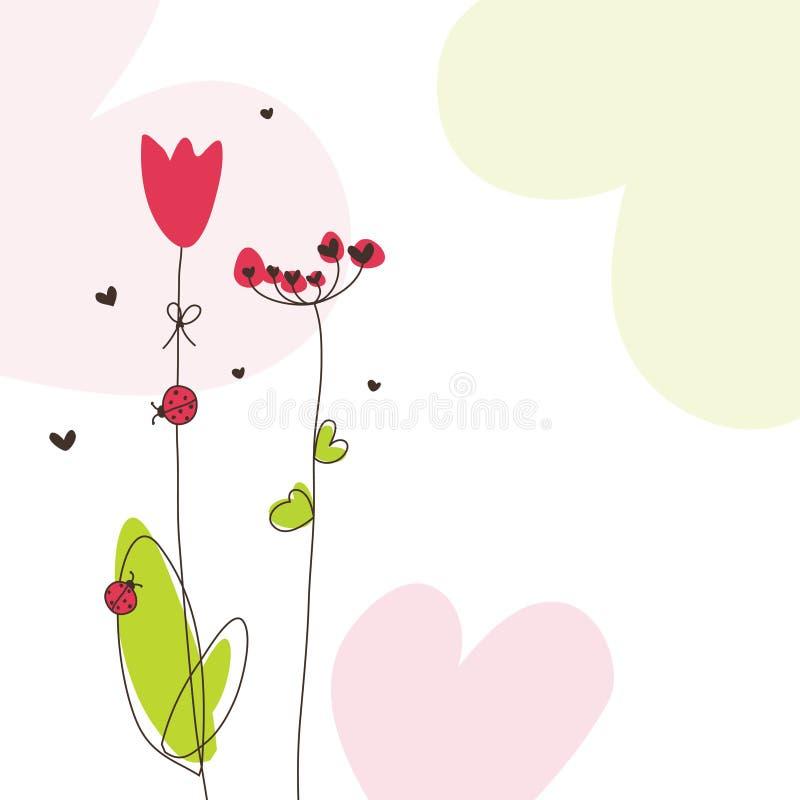 Download Cartão do Valentim ilustração do vetor. Ilustração de feriado - 12808765