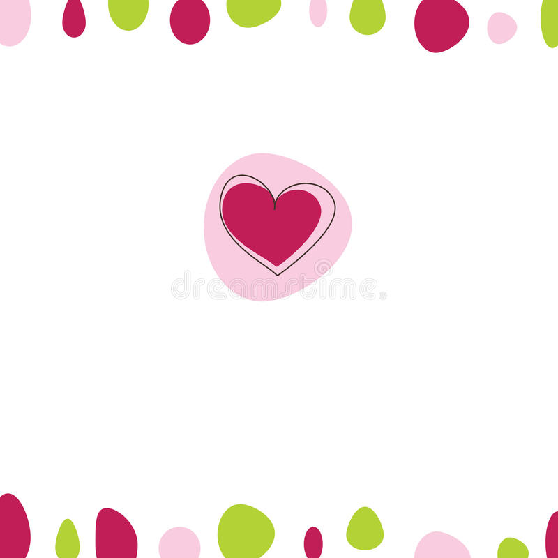 Download Cartão do Valentim ilustração do vetor. Ilustração de fundo - 12808815