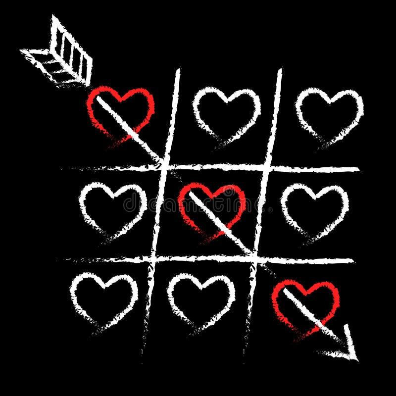 Cartão do Valentim do amor fotos de stock
