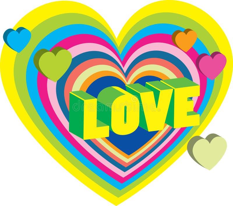 Download Cartão Do Valentim Brilhante Com Corações Ilustração Stock - Ilustração de projeto, brilhante: 12809414