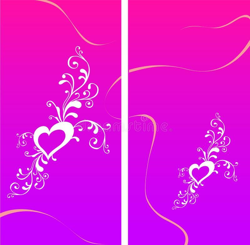 Cartão do Valentim com coração ilustração royalty free