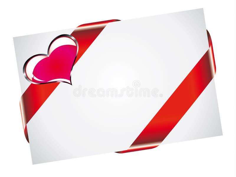 Cartão do Valentim com espaço branco para o texto ilustração stock