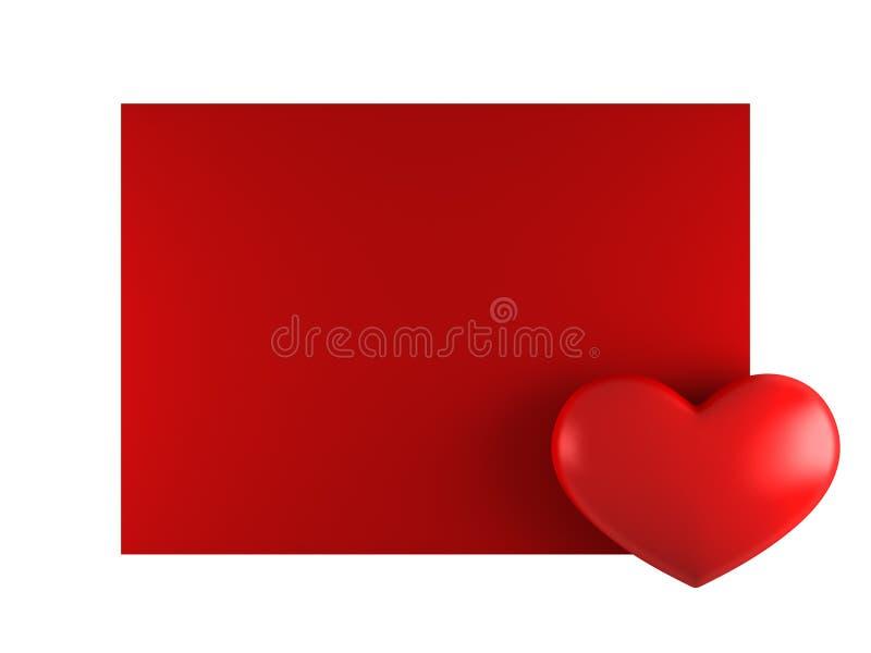 Cartão do Valentim do dia com coração ilustração do vetor