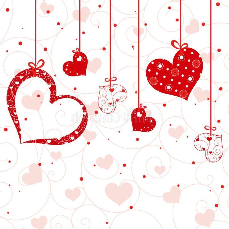 Cartão do Valentim do St ilustração royalty free