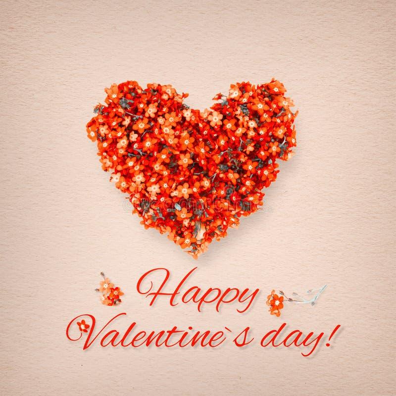 Cartão do Valentim do vintage imagens de stock