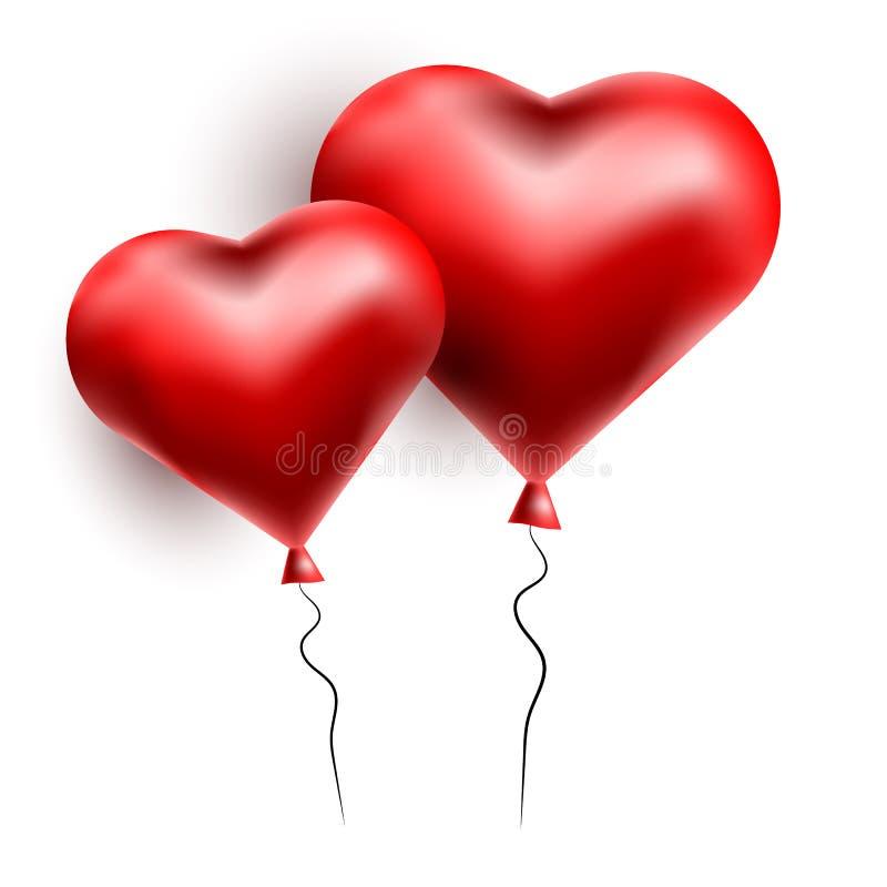 Cartão do vetor com corações 3d Dia do Valentim s Amor e romance foto de stock royalty free