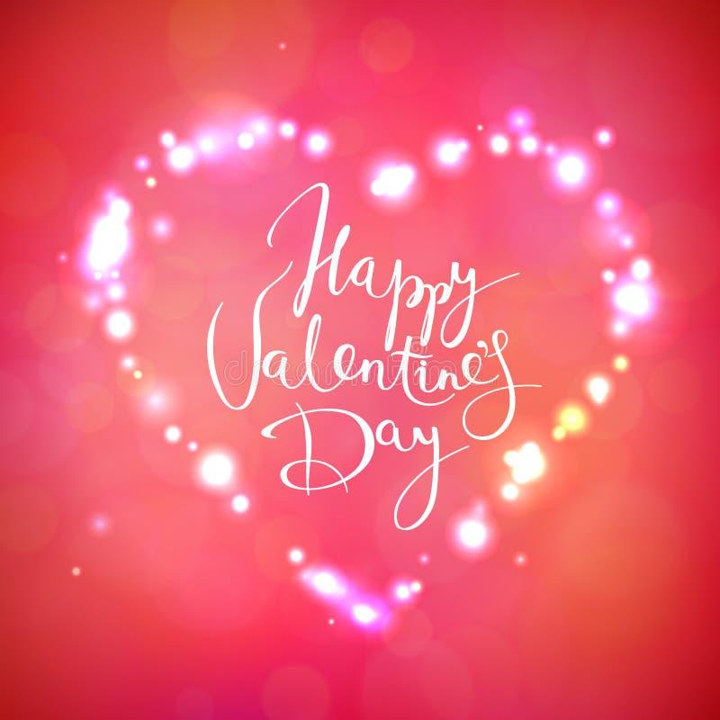 Cartão do vetor do dia do Valentim feliz ilustração royalty free