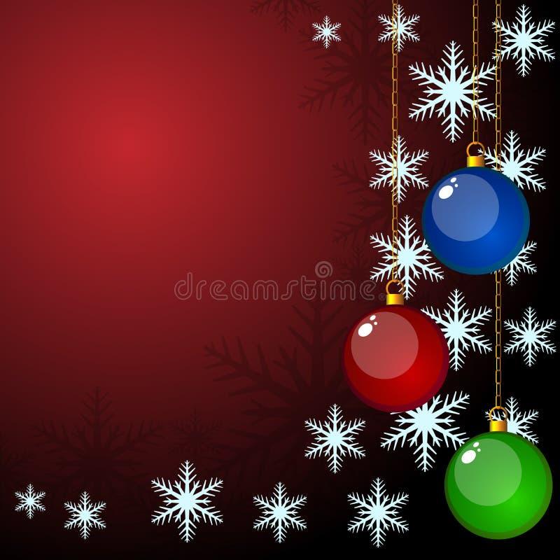 Cartão do vetor do Natal ilustração stock