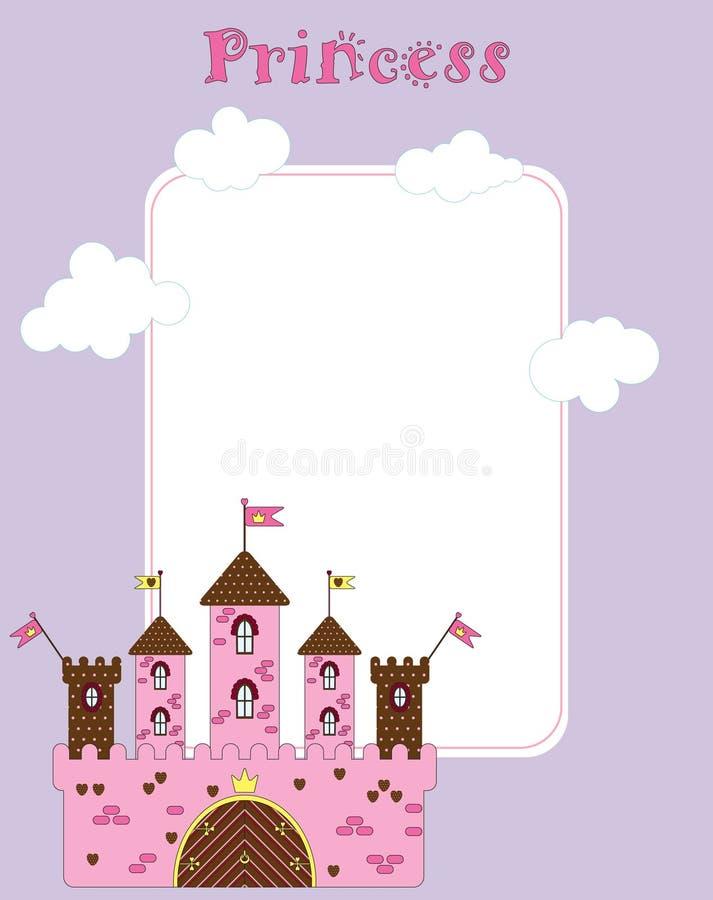 Cartão do vetor para a princesa pequena fotos de stock royalty free