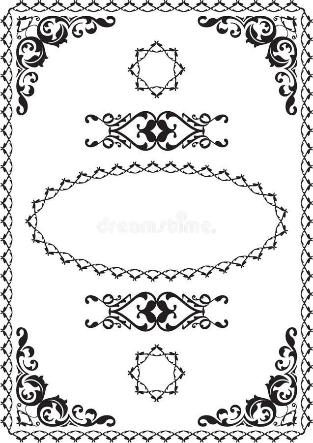 Cartão do victorian do cumprimento ilustração royalty free