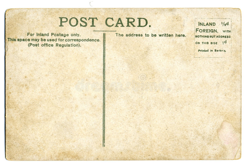 Cartão do vintage fotografia de stock royalty free