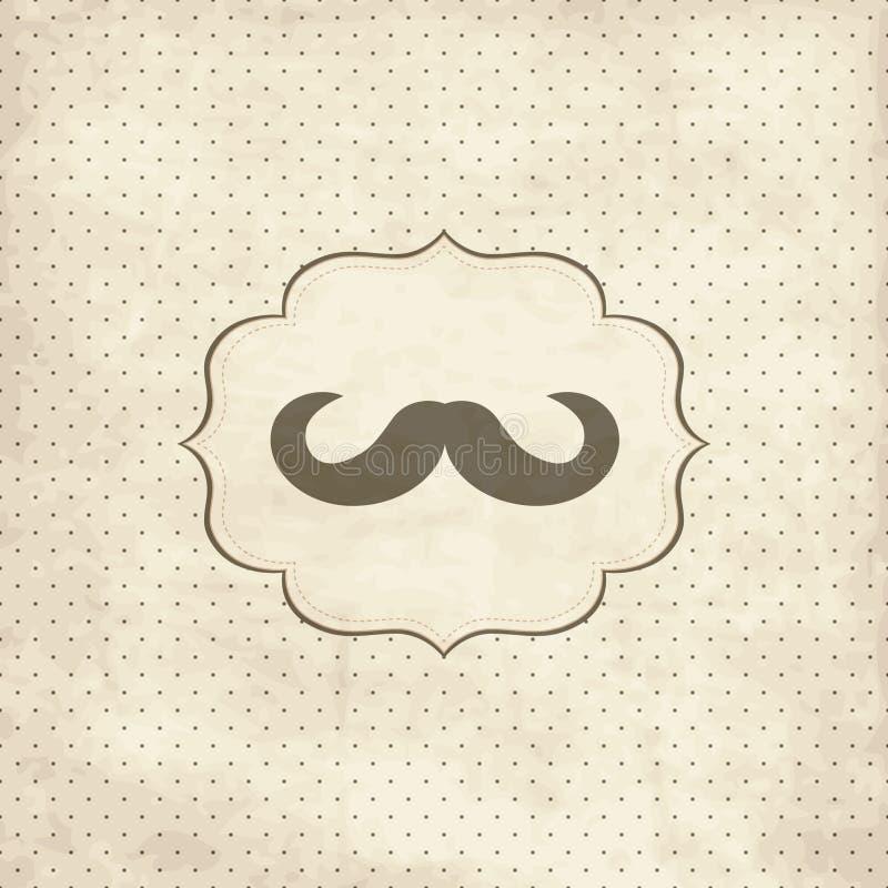 Cartão do vintage com bigode ilustração royalty free