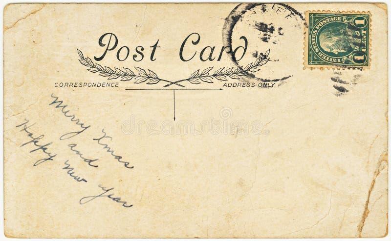 Cartão do vintage com cumprimento do Natal fotos de stock royalty free