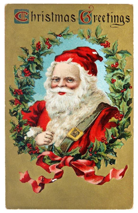 Cartão do vintage com cumprimentos do Natal imagens de stock