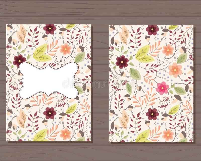 Download Cartão Do Vintage Com Flores Ilustração Stock - Ilustração de bebê, folha: 80101914