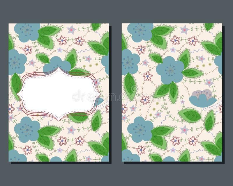 Download Cartão Do Vintage Com Flores Ilustração Stock - Ilustração de chuveiro, flor: 80101938