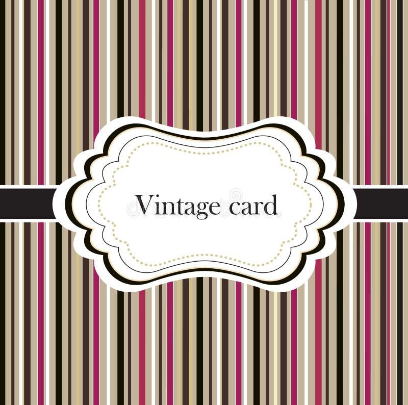 Cartão do vintage com frame ilustração royalty free
