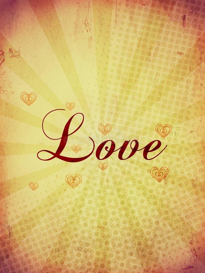 Cartão do vintage do amor ilustração do vetor
