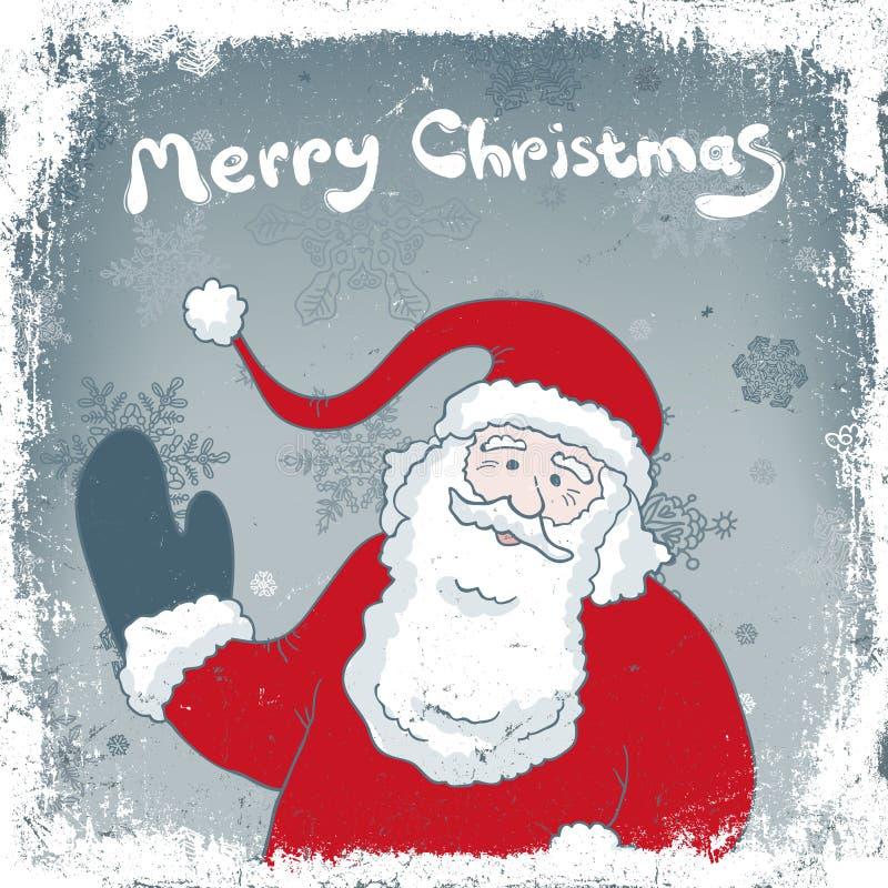 Cartão do vintage do Natal. ilustração stock