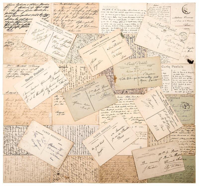 Cartão do vintage textos indeterminados escritos à mão imagens de stock