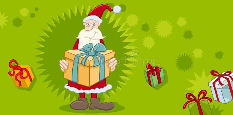 Download Cartão do Xmas com Santa ilustração do vetor. Ilustração de molde - 80102999