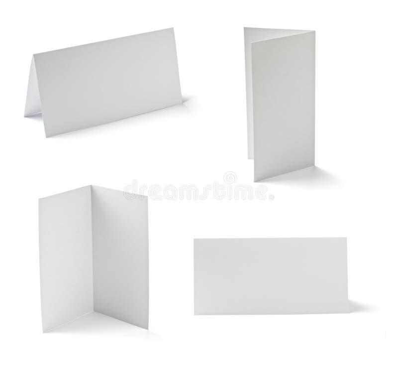 Cartão dobrado foto de stock
