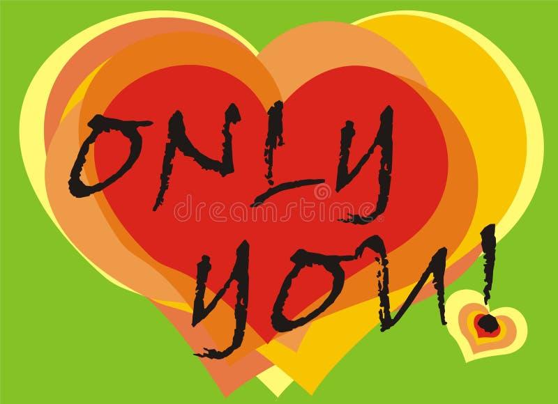 Cartão dos corações ilustração royalty free