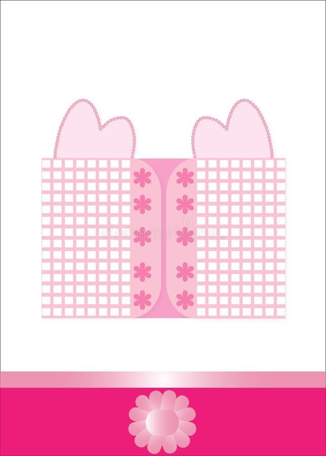 Cartão dos corações do amor ilustração royalty free