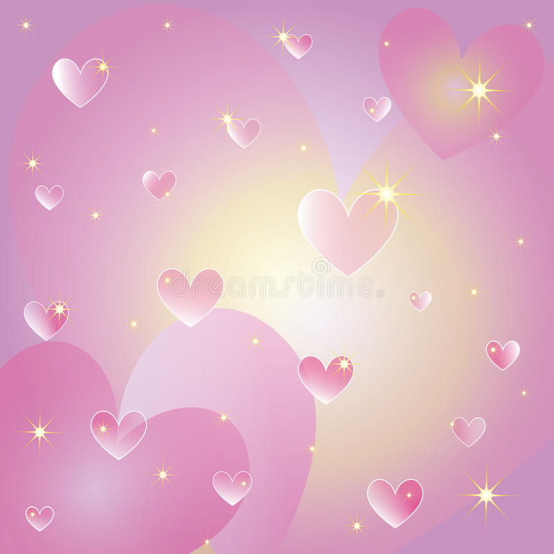 Cartão dos corações do Valentim do St ilustração royalty free